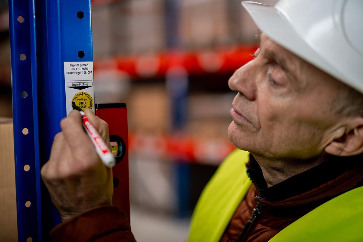 DGUV Regel 108-007 Jährliche Inspektion Prüfsiegel von ROS Deutschland